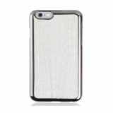 iPhone6 White Caiman Crocodile Leather Cell Phone Case